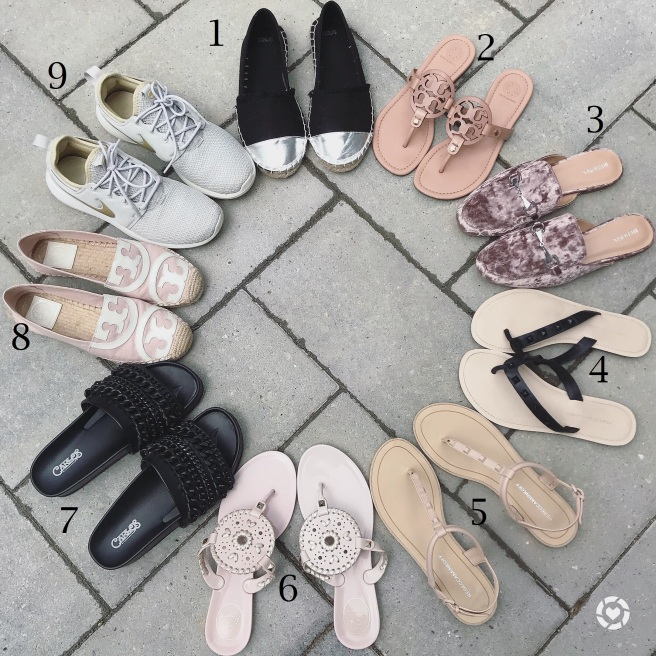 shoes with numbers